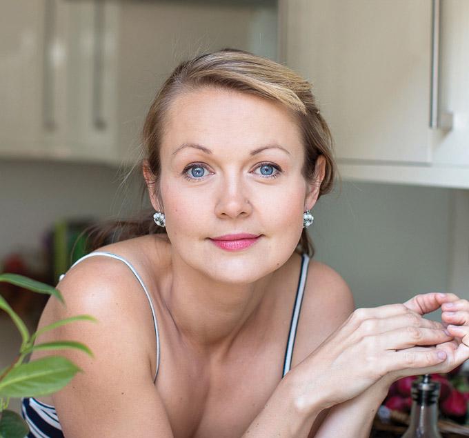 Irena Macri in her kitchen